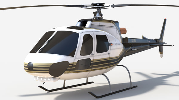 3D model eurocopter helicopter blades