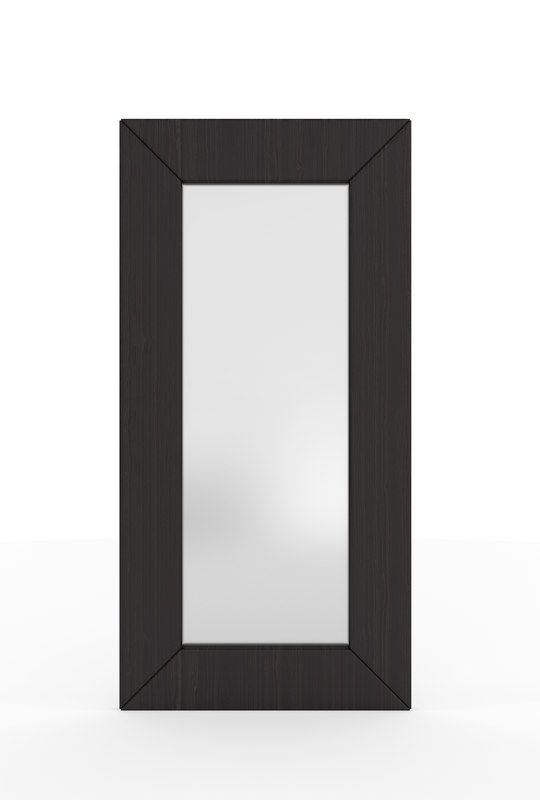 large wall mirror wood 3D