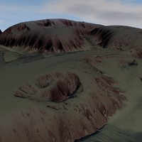 terrain 04 red 3D