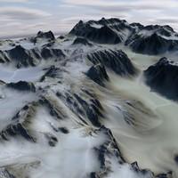 terrain 08 hills 3D model
