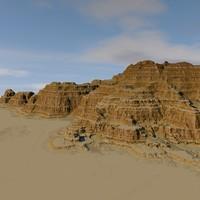 terrain 09 rock 3D model