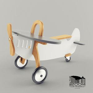 3D airplane toy child