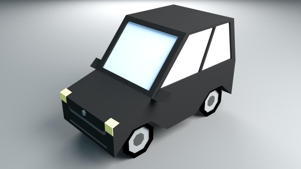 cartoon city car 3D model