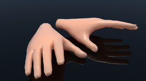 3D model cartoon hand