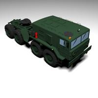 maz mzkt-537 military truck 3D model