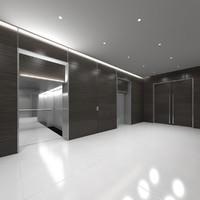 lift lobby 3D model