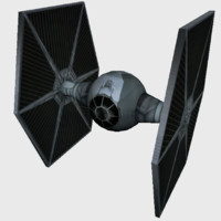 3D tie fighter