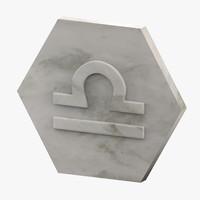 marble libra 3D