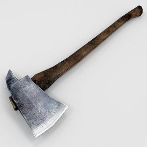 wood cutter s axe 3D