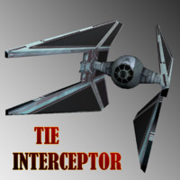 3D lights tie interceptor