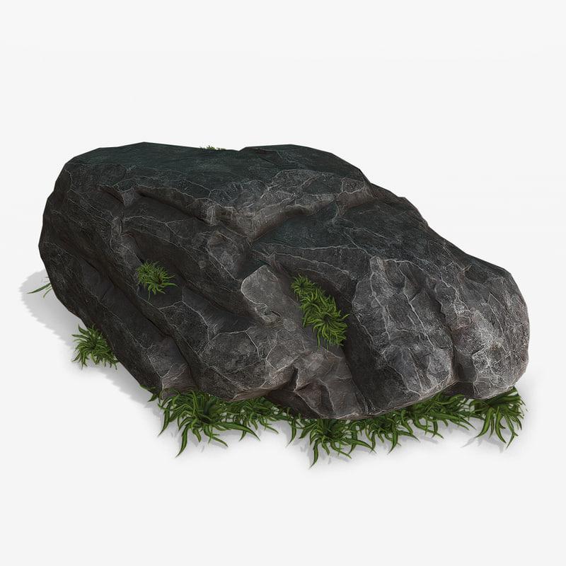 black rock grass model