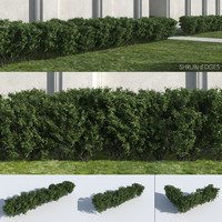 3D shrub hedges