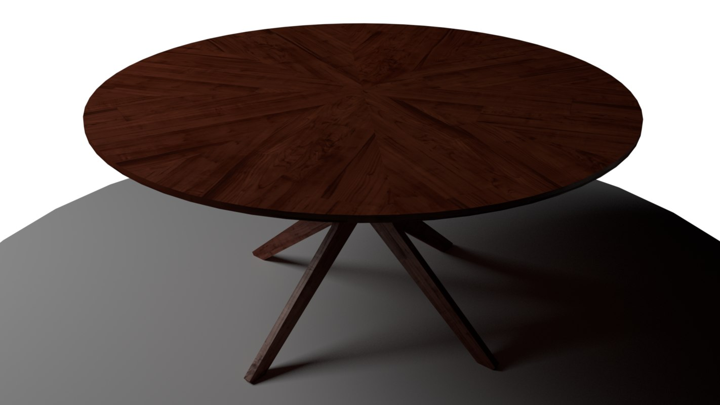 modern dark wood table 3D