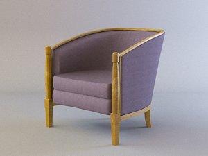 3D velveteen armchair