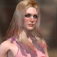 young woman human female 3D model