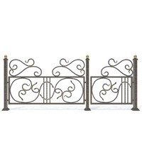 3D wrought iron fence