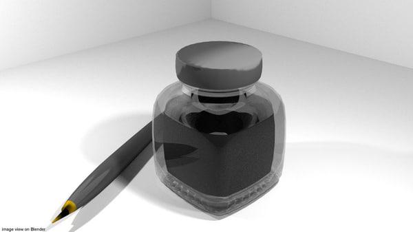 draw ink inker 3D model