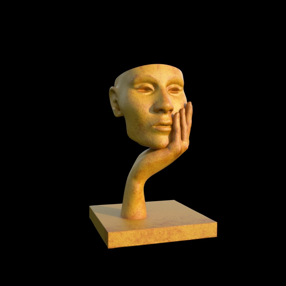 modern sculpture woman 3D