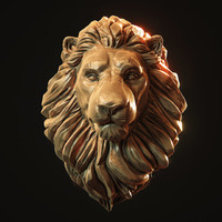 Lion Head Pendant 3d print model
