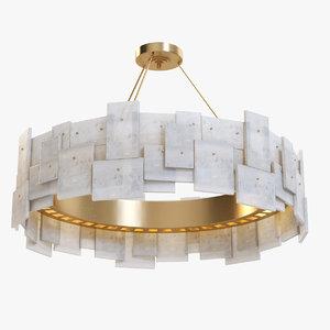 3D model geometric rock crystal chandelier