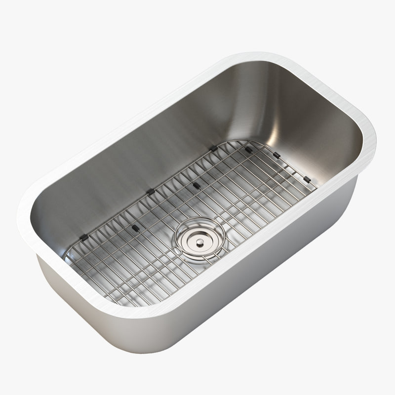 3D single bowl kitchen sink