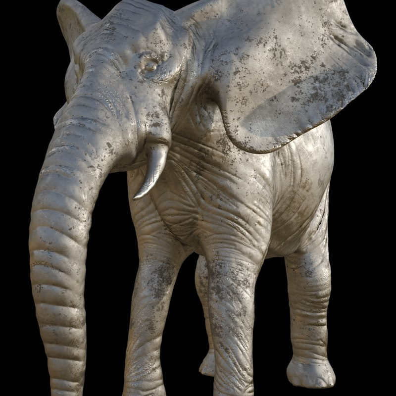 3D model elephant sculpture