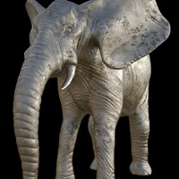 Elephant sculpture statue