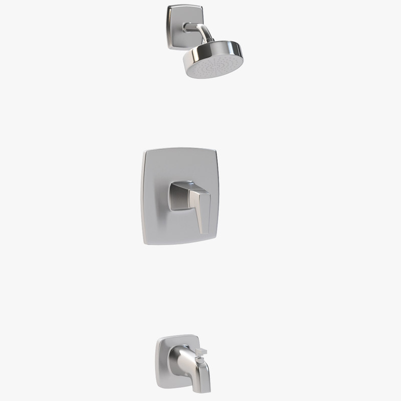 arkitek 1-handle tub shower 3D model