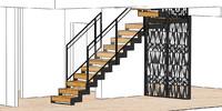 railing stair model