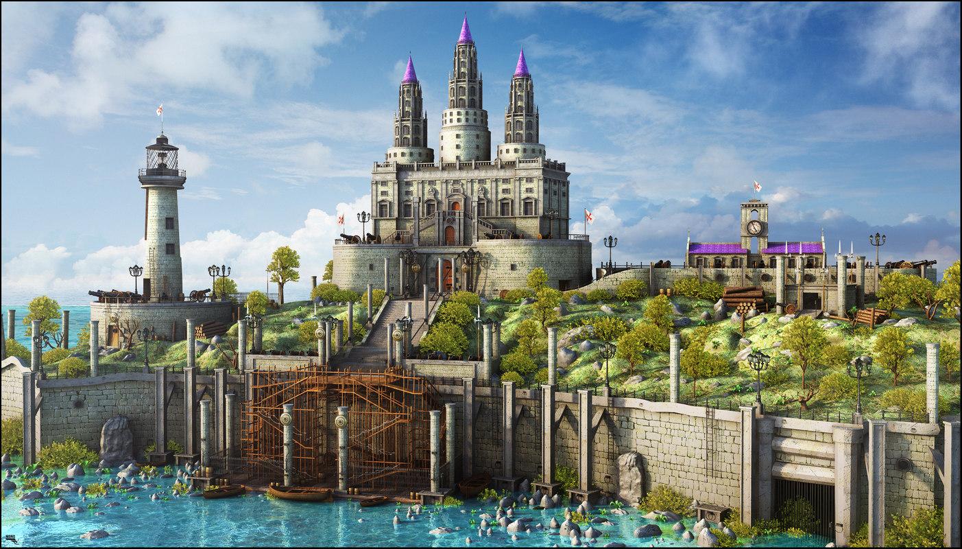 3D medieval fantasy