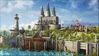 Fantasy Castle Landscape V1