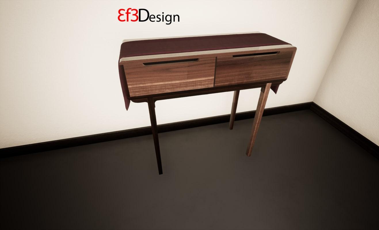ethnic desk 3D model