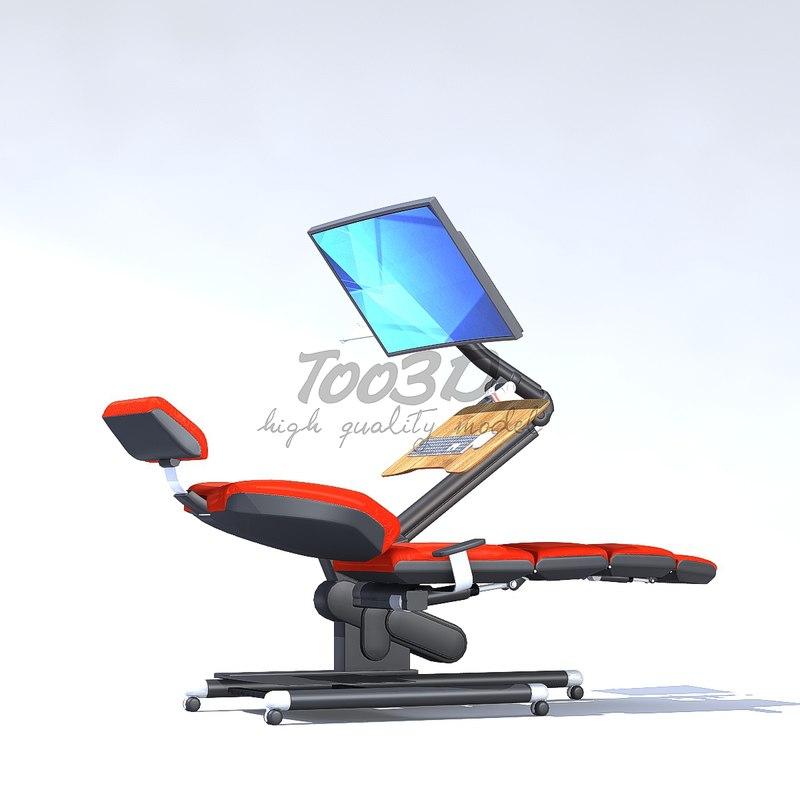 3D seat hard model