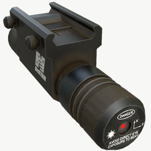 weapon laser 3D model