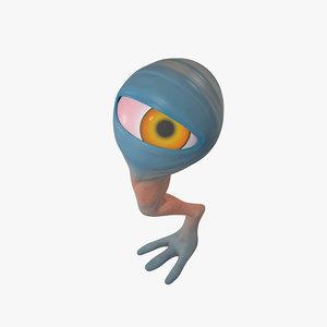 creature cyclop character rig 3D