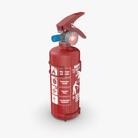 small extinguisher 3D model