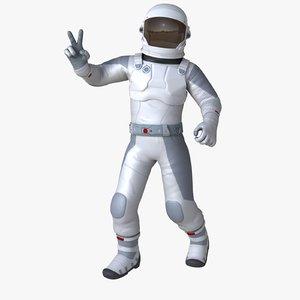 3D model sci-fi astronaut