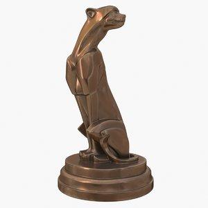 sculpture panthere art deco 3D model