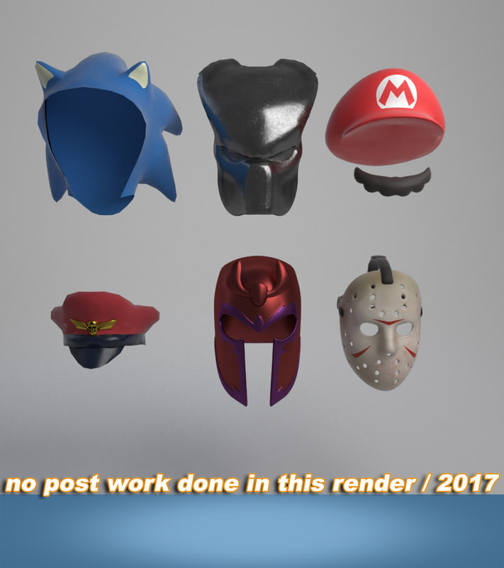 3D model helmets masks