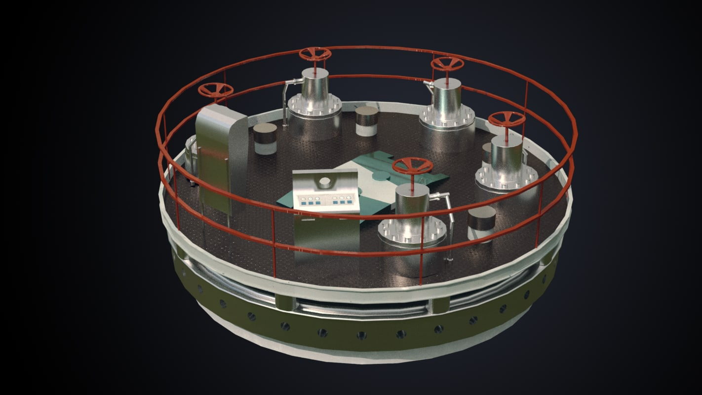3D nuclear installation model