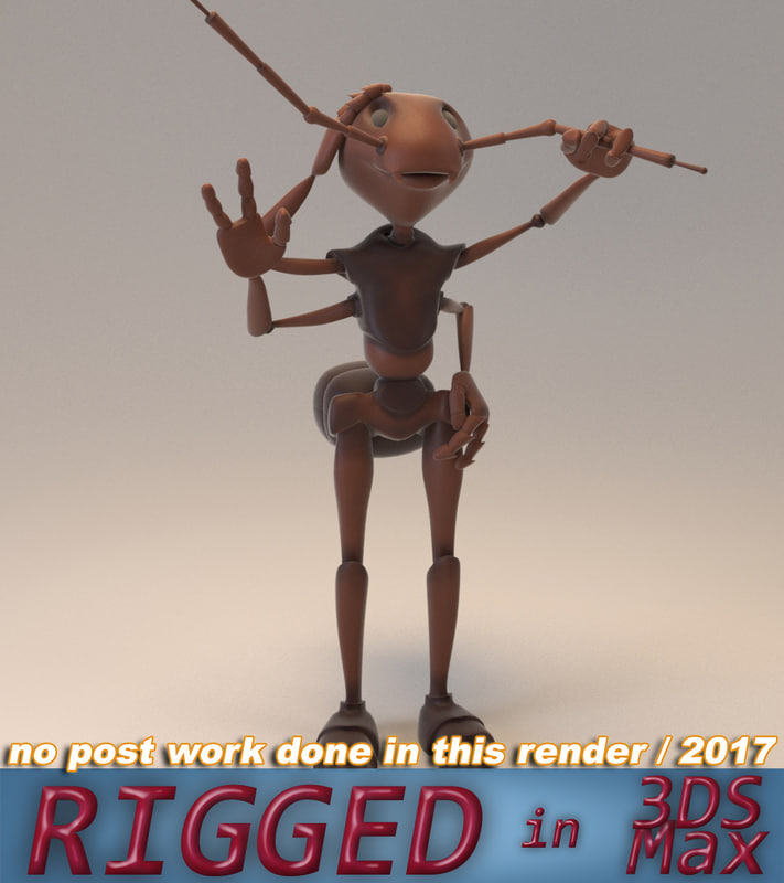 3D ant rig