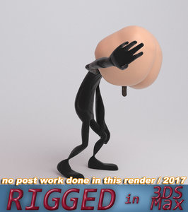 butt face 3D model