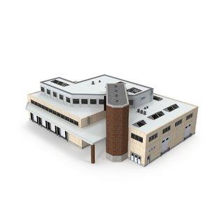 3D cargo building interior
