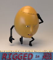 3D model humpty dumpty egg face