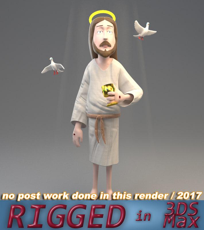 3D jesus dove graal model