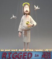 3D jesus dove graal model