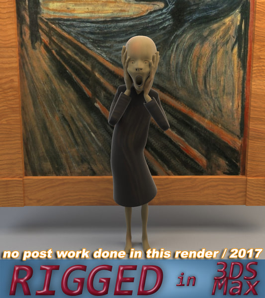 scream edvard munch 3D model