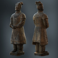 photoscanned terracotta model