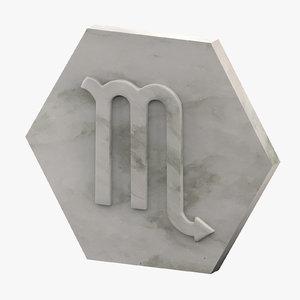3D marble scorpio