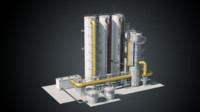 chemical factory 3D model